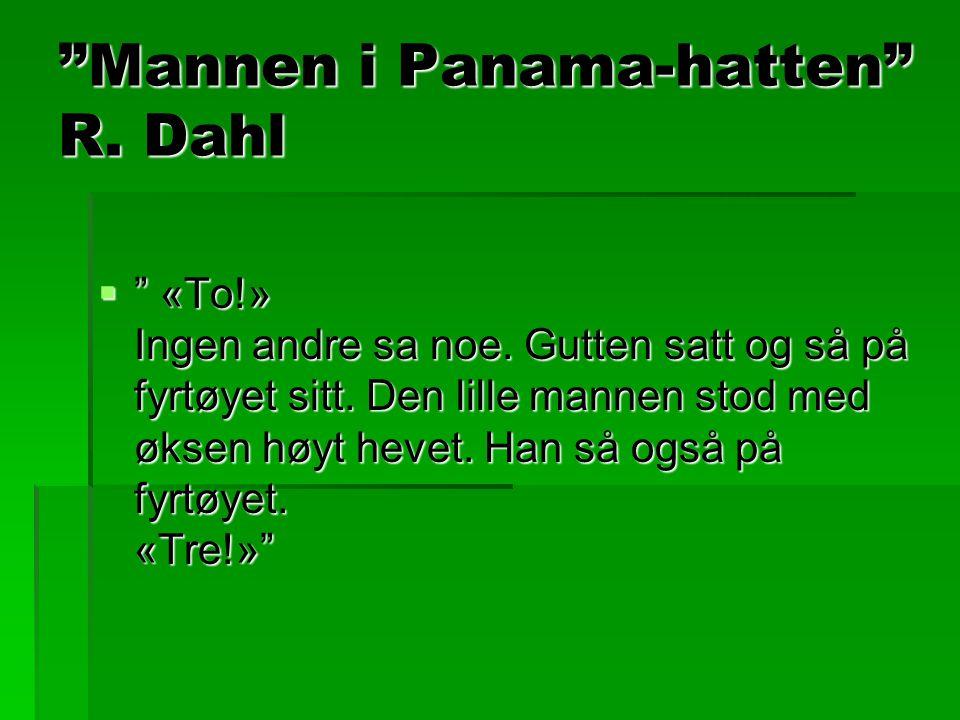Mannen i Panama-hatten R. Dahl