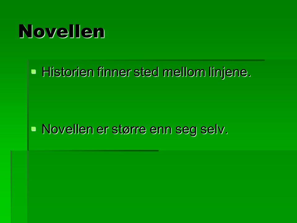 Novellen Historien finner sted mellom linjene.
