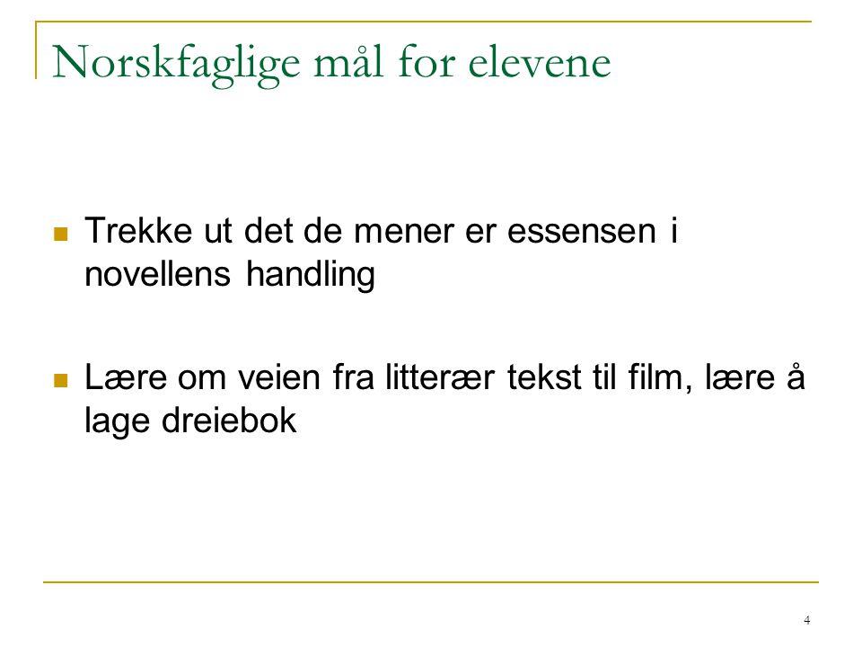 Norskfaglige mål for elevene