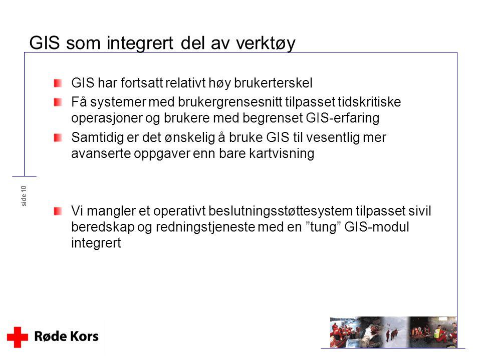 GIS som integrert del av verktøy