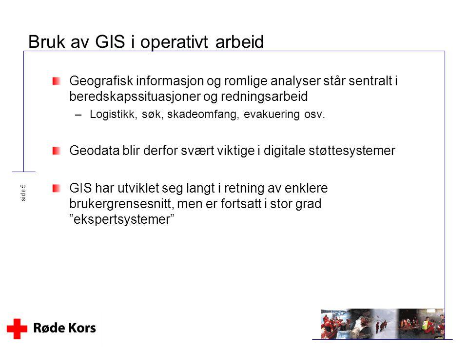 Bruk av GIS i operativt arbeid