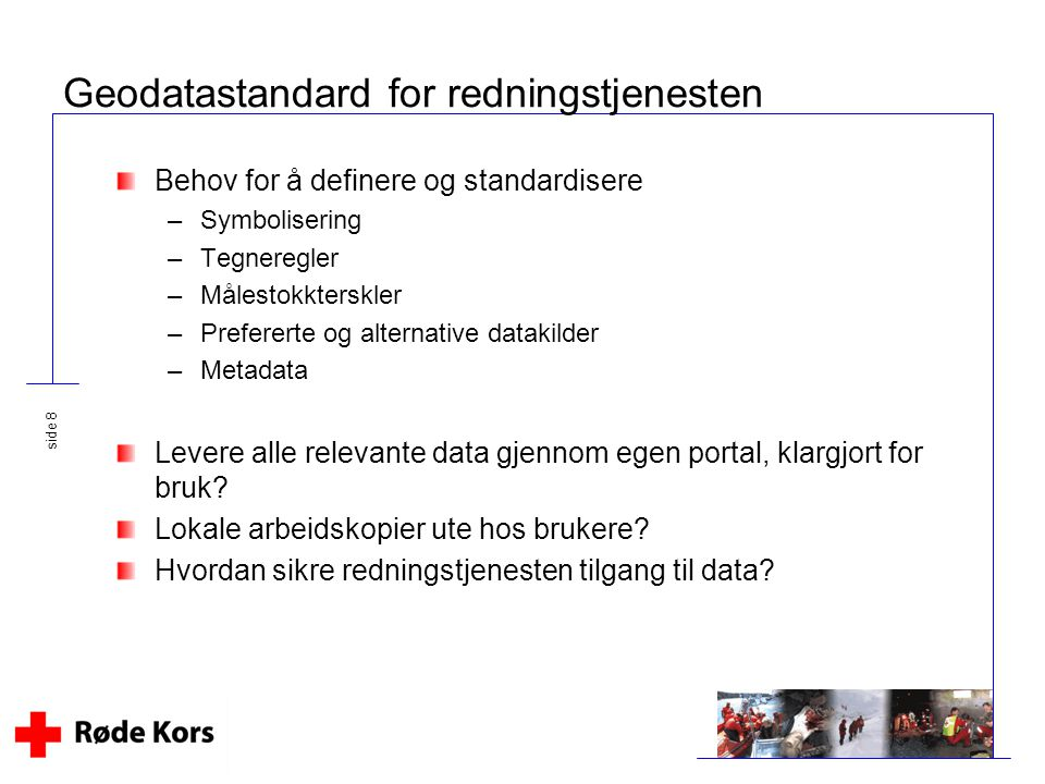 Geodatastandard for redningstjenesten