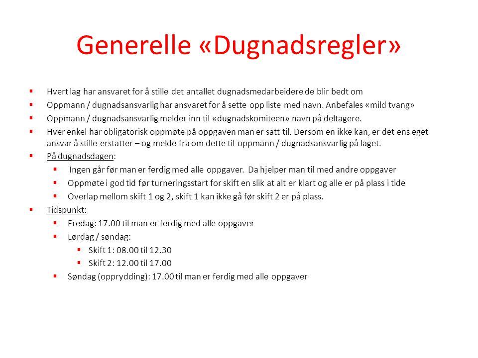 Generelle «Dugnadsregler»