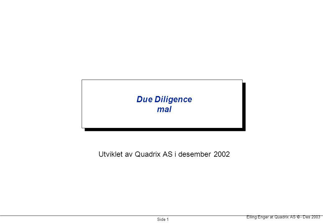 Utviklet av Quadrix AS i desember 2002