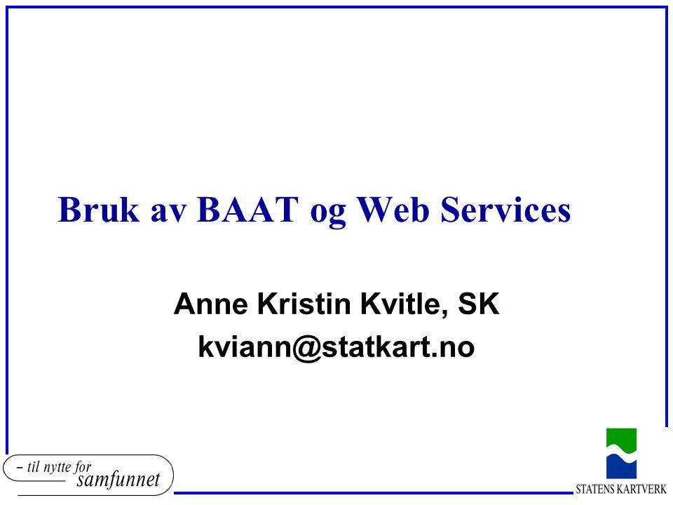 Bruk av BAAT og Web Services