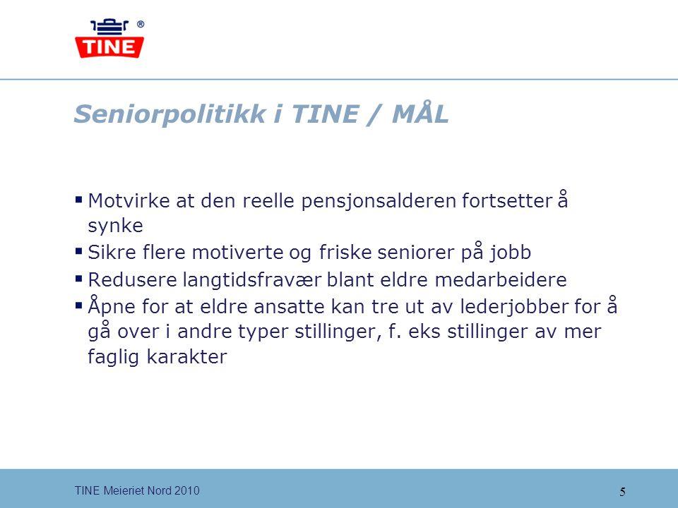 Seniorpolitikk i TINE / MÅL