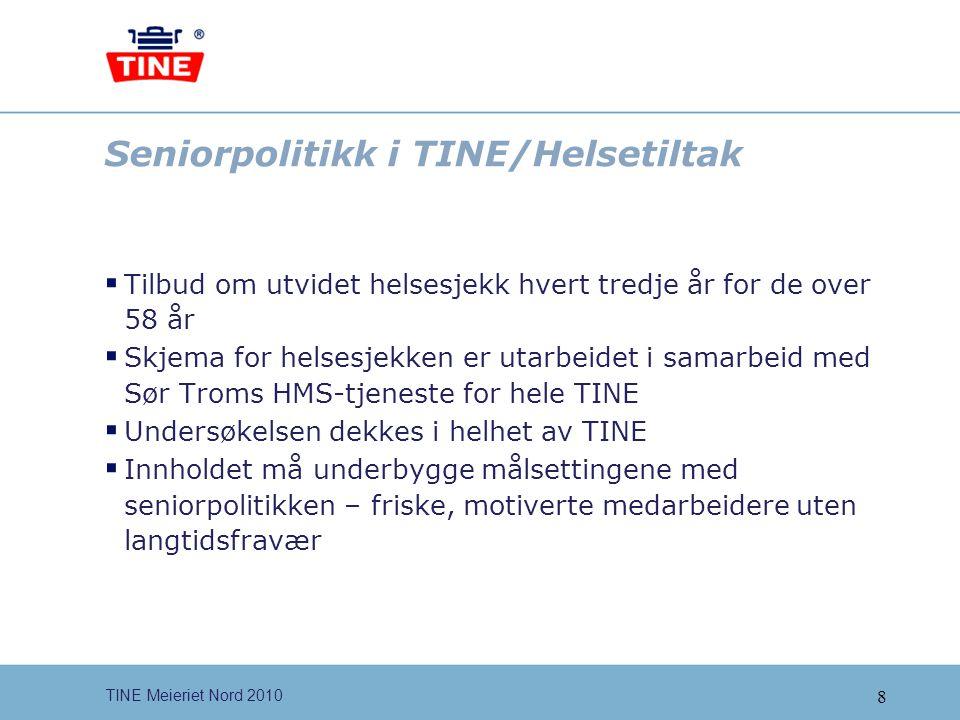 Seniorpolitikk i TINE/Helsetiltak