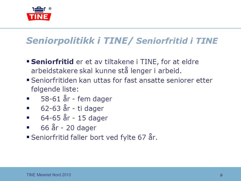 Seniorpolitikk i TINE/ Seniorfritid i TINE