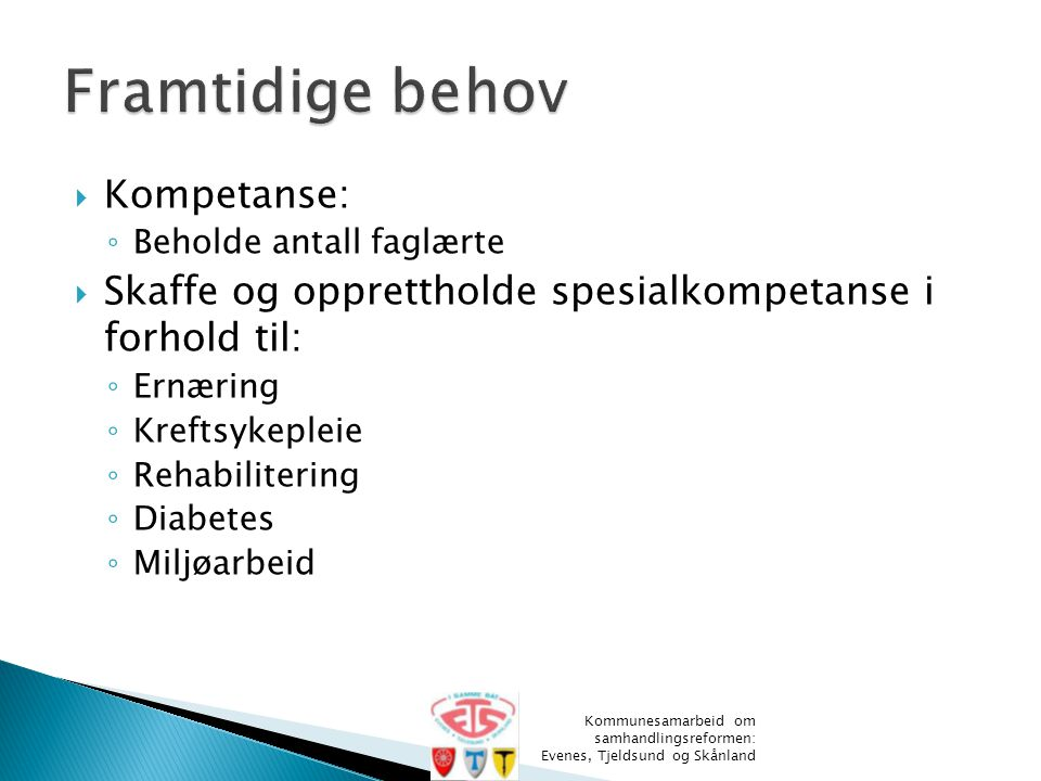 Framtidige behov Kompetanse: