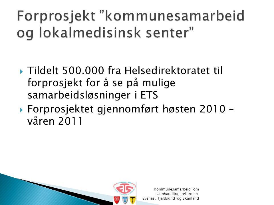Forprosjekt kommunesamarbeid og lokalmedisinsk senter