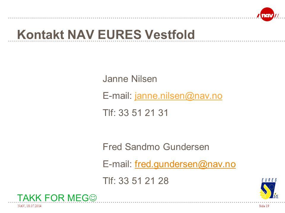 Kontakt NAV EURES Vestfold