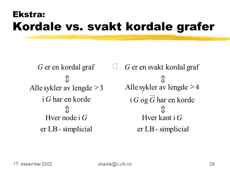 Ekstra: Kordale vs. svakt kordale grafer