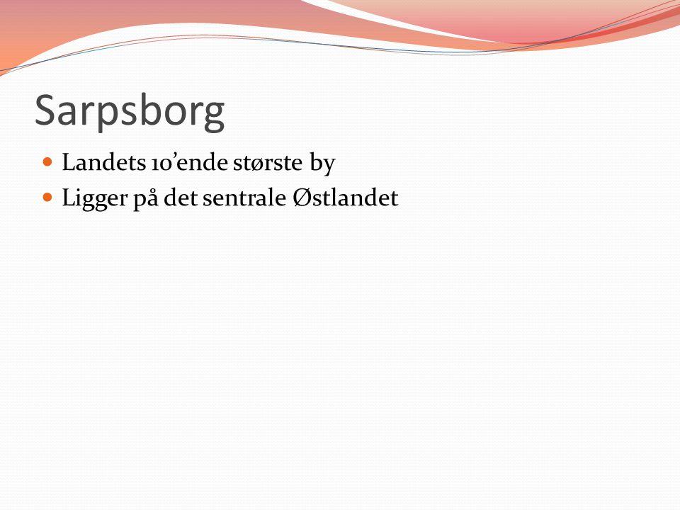 Sarpsborg Landets 10'ende største by Ligger på det sentrale Østlandet