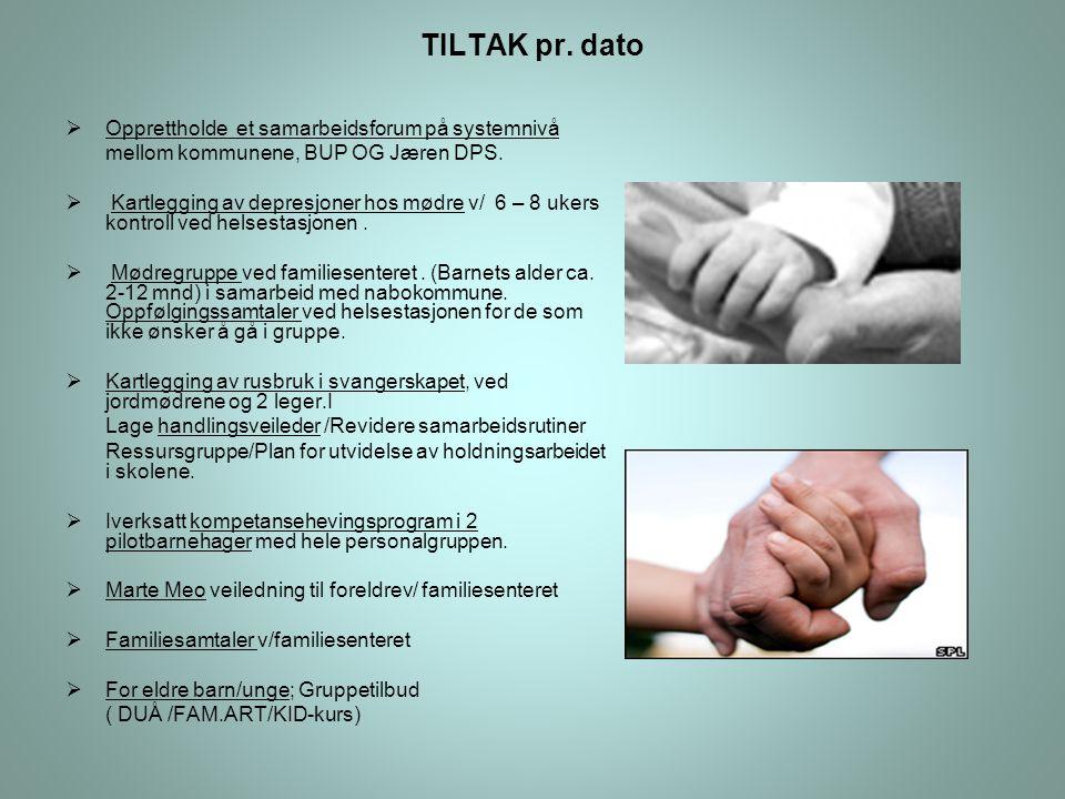TILTAK pr. dato Opprettholde et samarbeidsforum på systemnivå