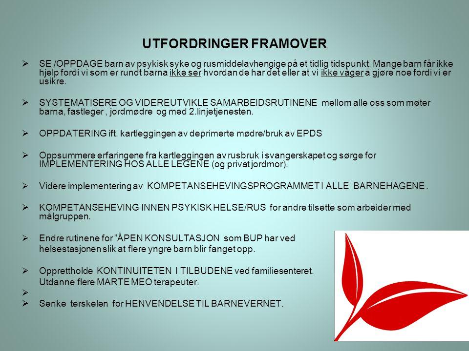 UTFORDRINGER FRAMOVER