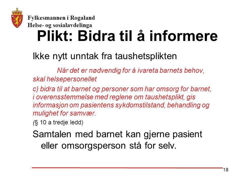 Plikt: Bidra til å informere