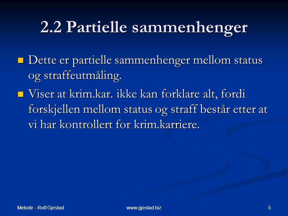 2.2 Partielle sammenhenger