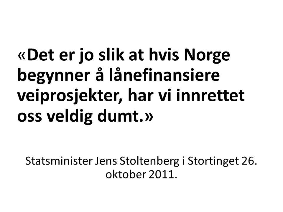 Statsminister Jens Stoltenberg i Stortinget 26. oktober 2011.