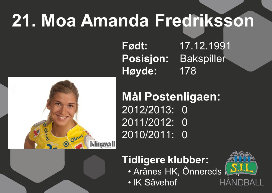 21. Moa Amanda Fredriksson