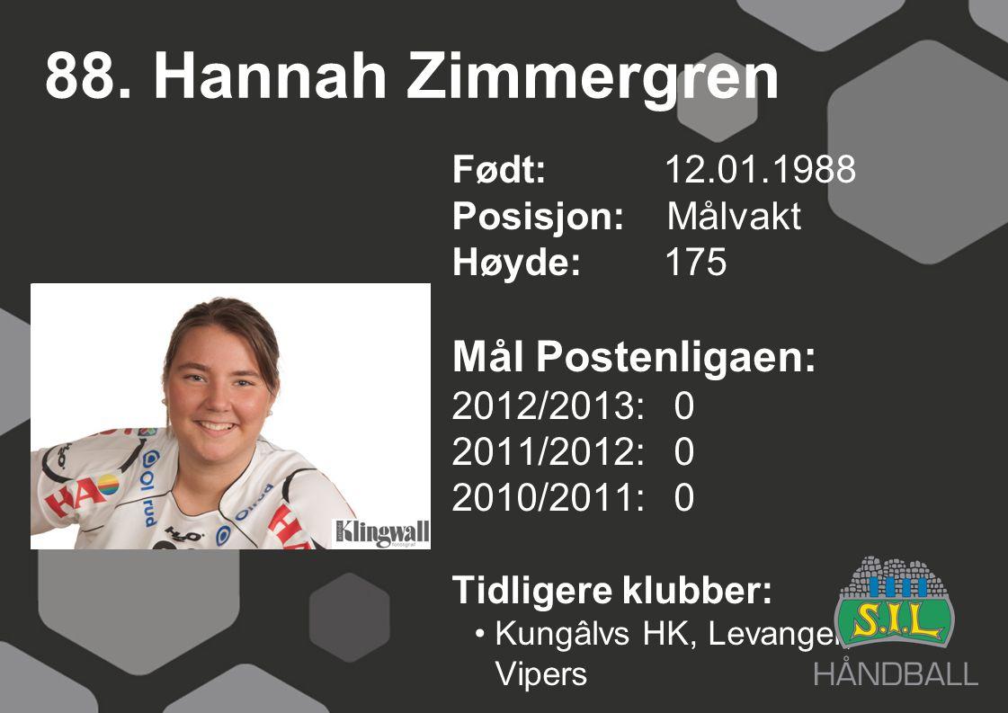 88. Hannah Zimmergren Mål Postenligaen: