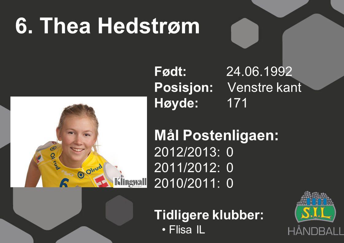 6. Thea Hedstrøm Mål Postenligaen: