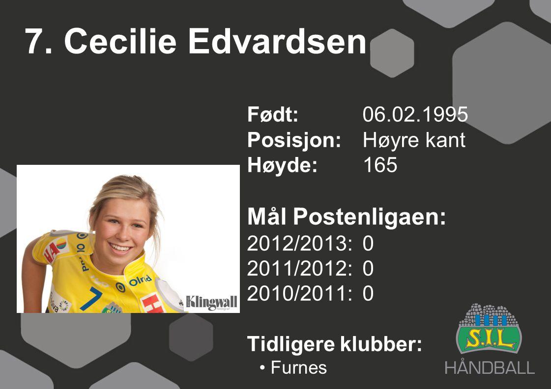 7. Cecilie Edvardsen Mål Postenligaen: