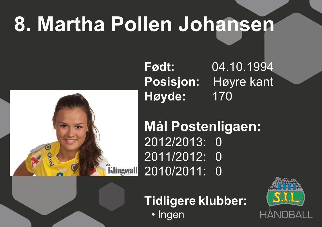 8. Martha Pollen Johansen