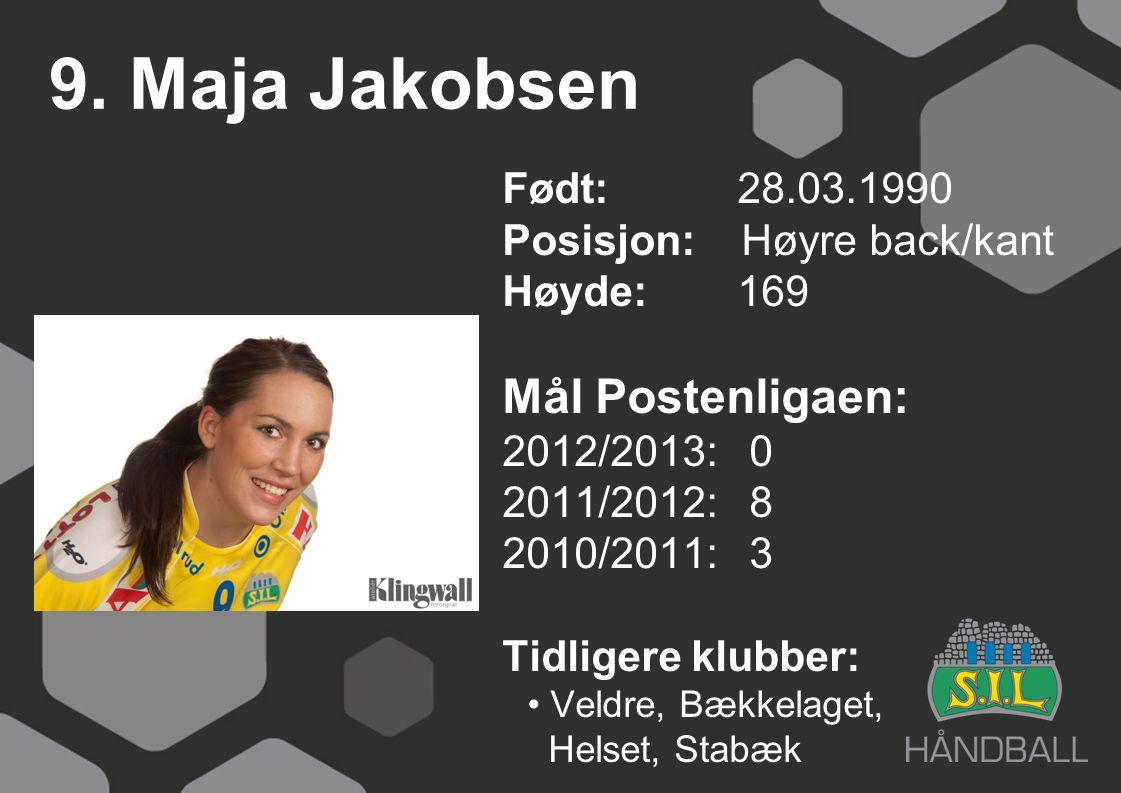 9. Maja Jakobsen Mål Postenligaen: