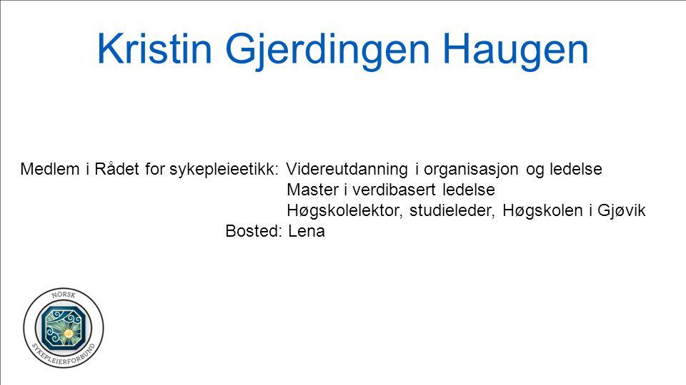 Kristin Gjerdingen Haugen