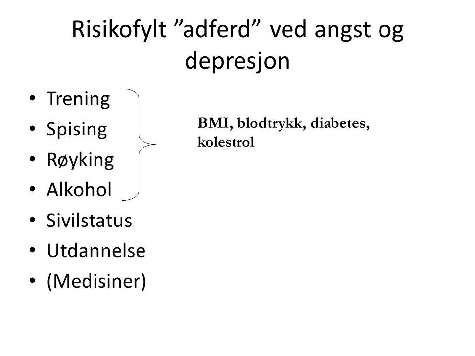 Risikofylt adferd ved angst og depresjon