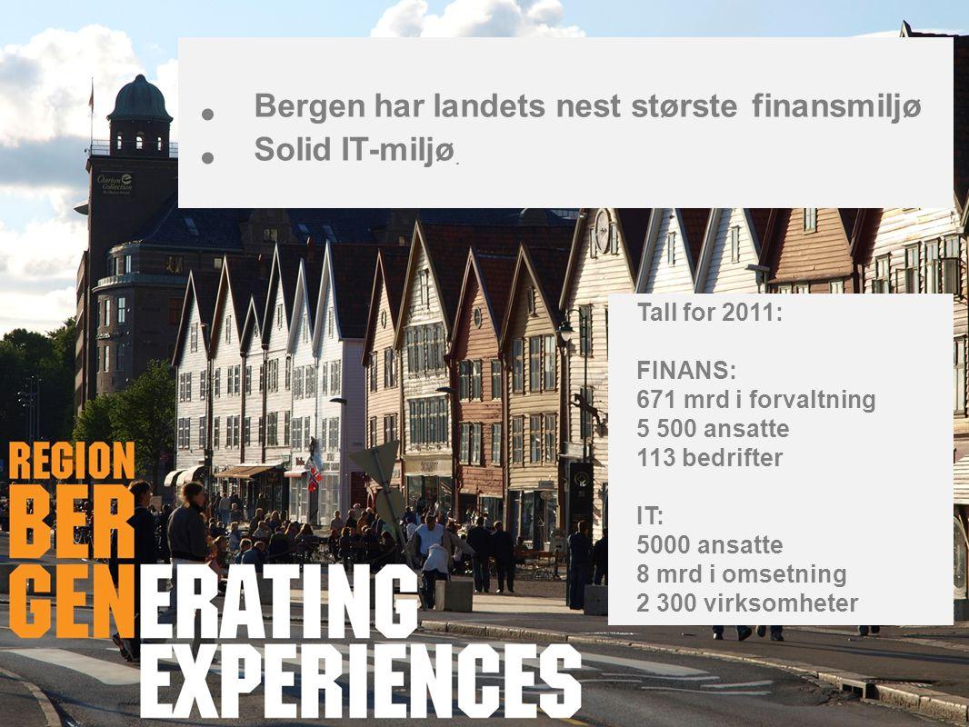 Bergen har landets nest største finansmiljø Solid IT-miljø.