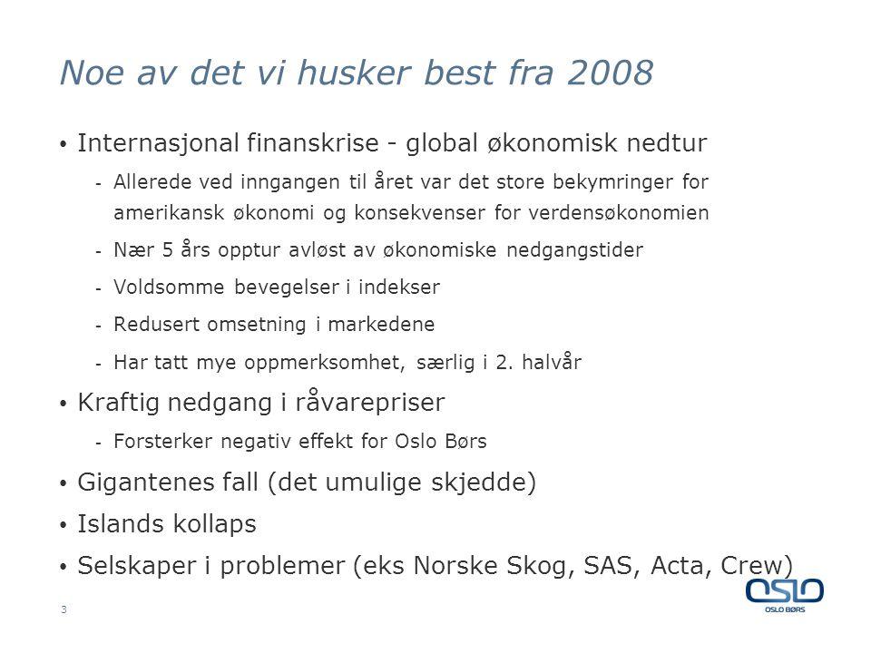 Noe av det vi husker best fra 2008