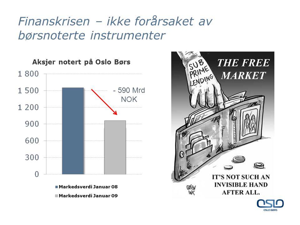 Finanskrisen – ikke forårsaket av børsnoterte instrumenter