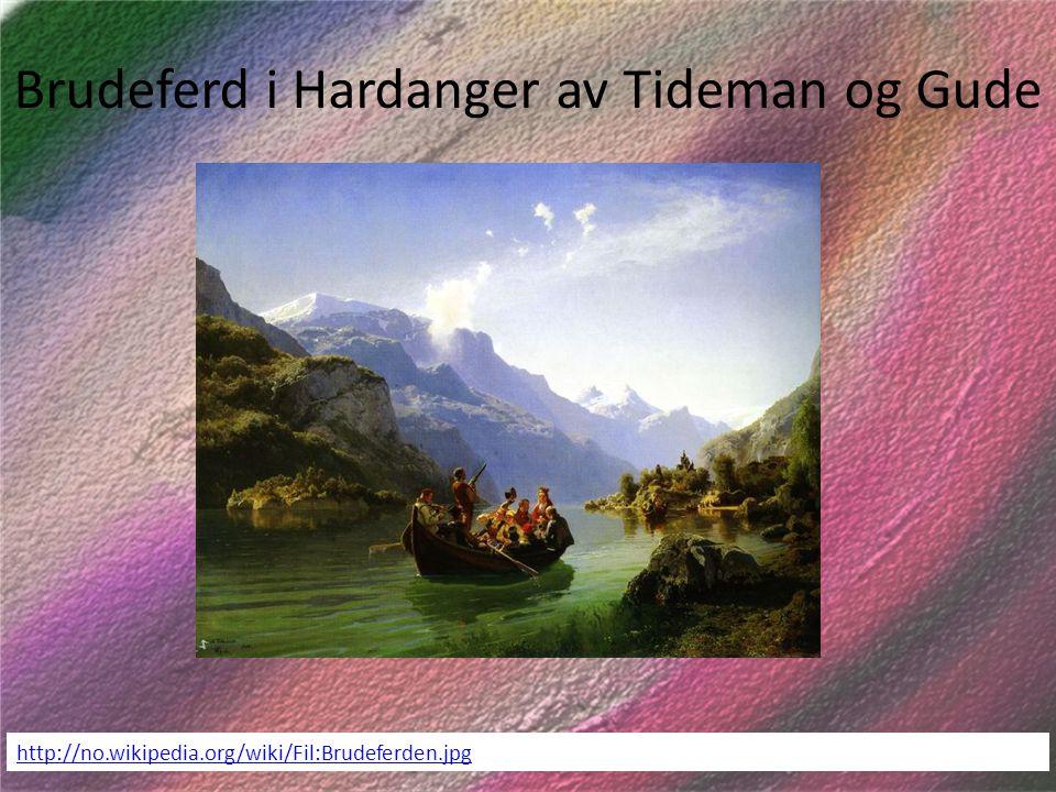Brudeferd i Hardanger av Tideman og Gude