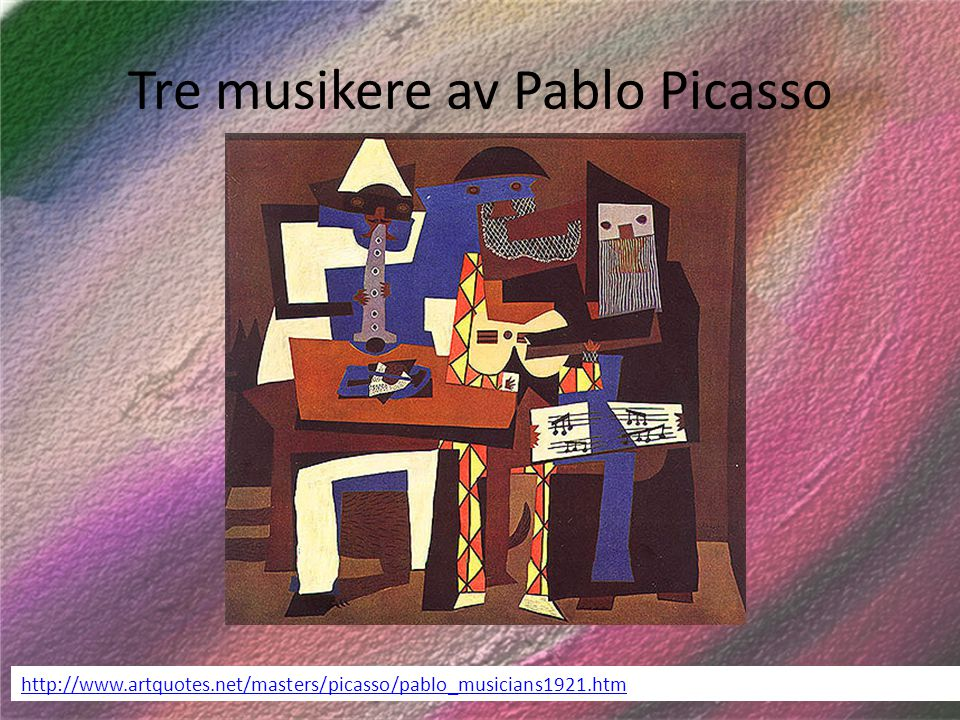 Tre musikere av Pablo Picasso