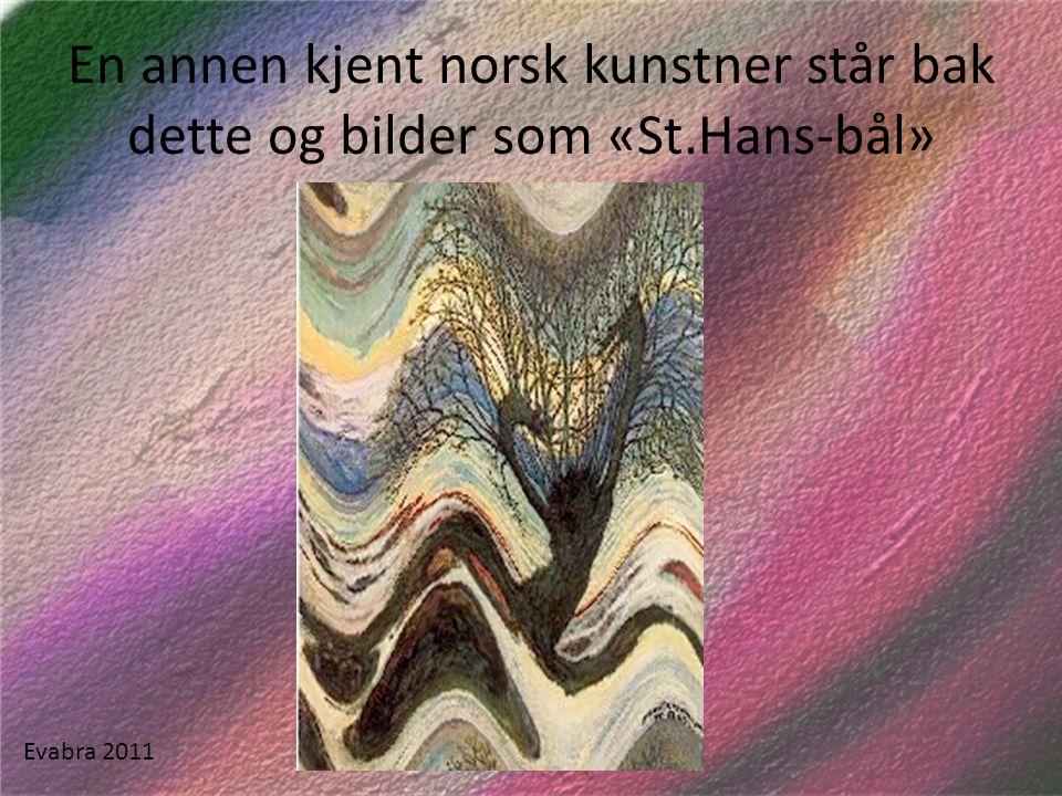 En annen kjent norsk kunstner står bak dette og bilder som «St