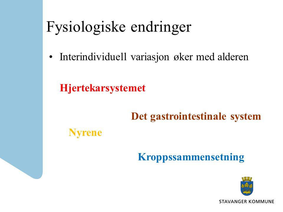 Fysiologiske endringer