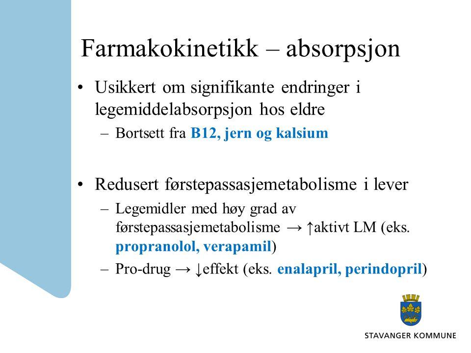 Farmakokinetikk – absorpsjon