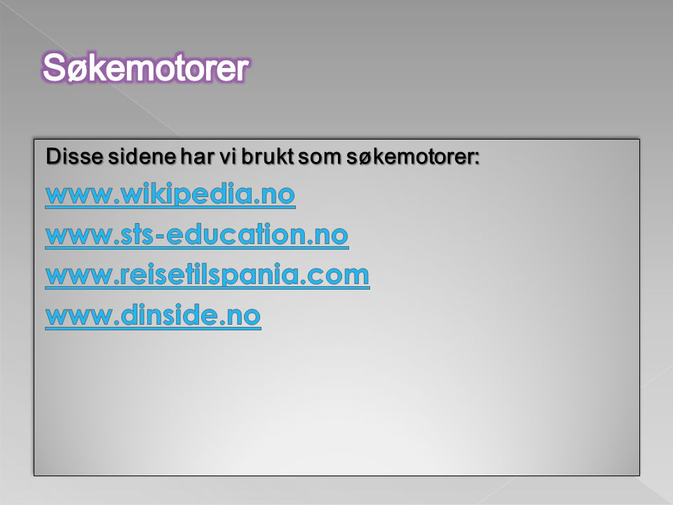 Søkemotorer www.wikipedia.no www.sts-education.no