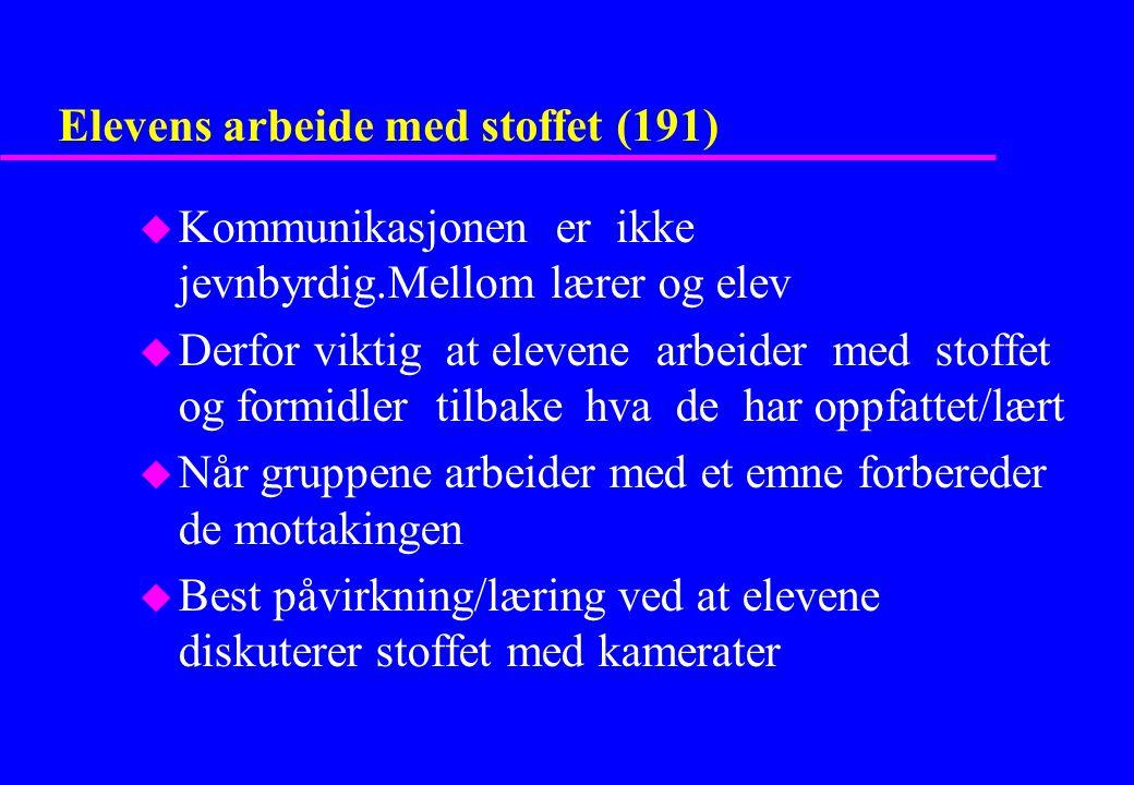 Elevens arbeide med stoffet (191)
