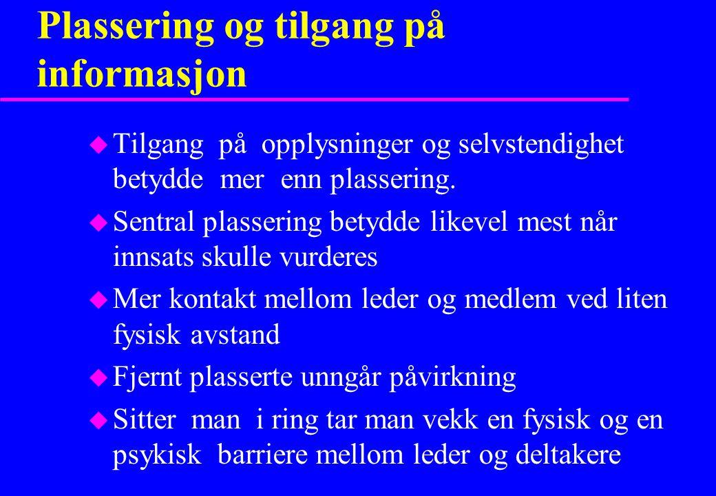Plassering og tilgang på informasjon