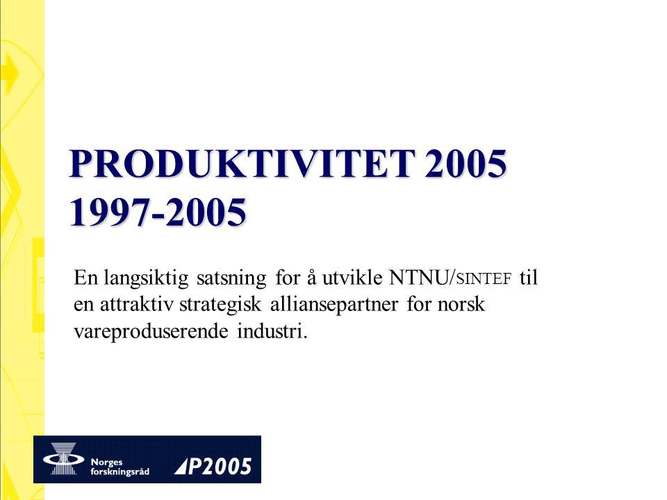PRODUKTIVITET 2005 1997-2005
