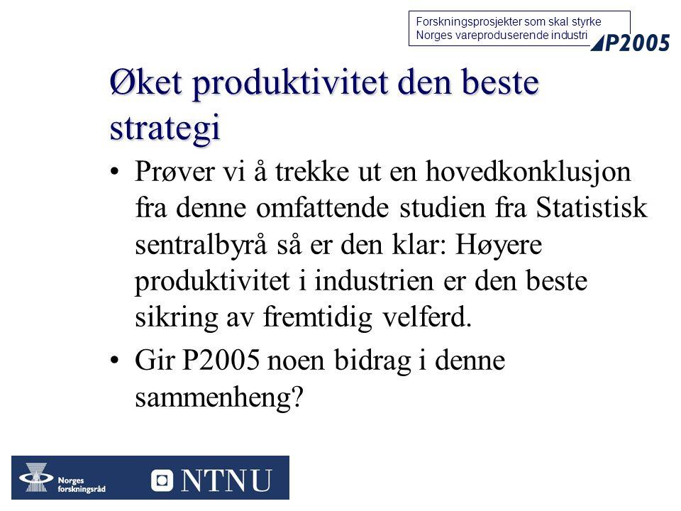 Øket produktivitet den beste strategi
