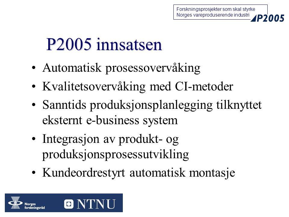 P2005 innsatsen Automatisk prosessovervåking
