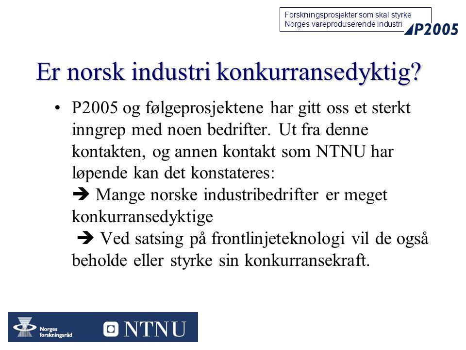 Er norsk industri konkurransedyktig
