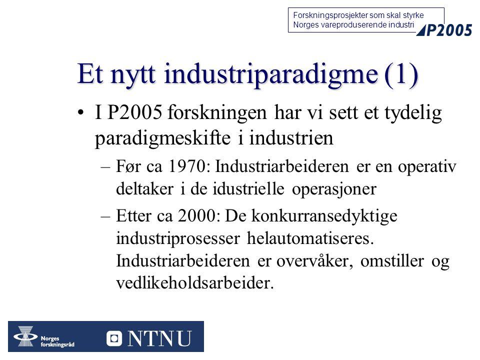 Et nytt industriparadigme (1)