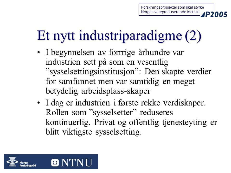 Et nytt industriparadigme (2)