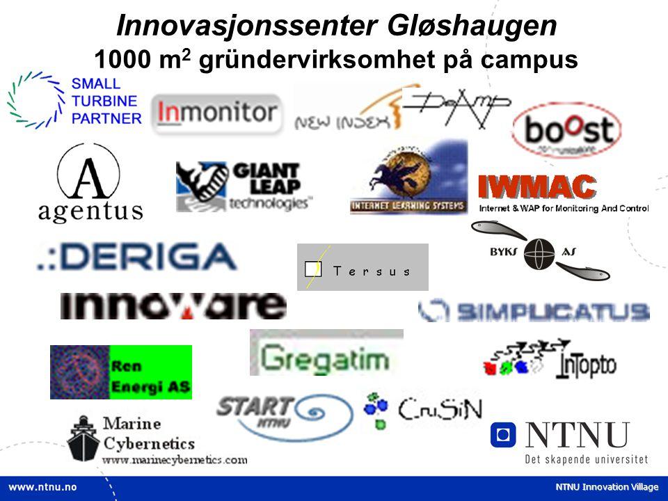 Innovasjonssenter Gløshaugen 1000 m2 gründervirksomhet på campus