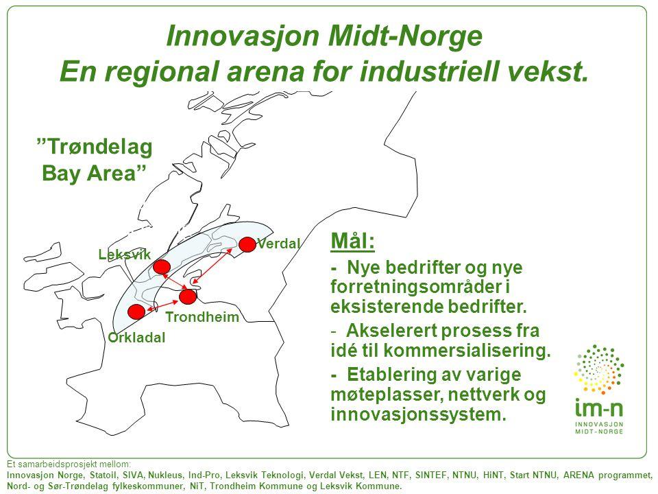 Innovasjon Midt-Norge En regional arena for industriell vekst.