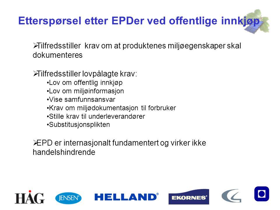 Etterspørsel etter EPDer ved offentlige innkjøp